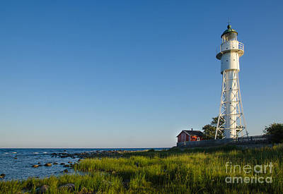 Rights Managed Images Photograph - Baltic Sea Lighthouse by Kennerth and Birgitta Kullman