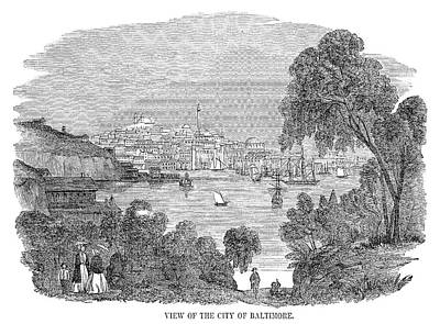 River View Painting - Baltimore, 1857 by Granger