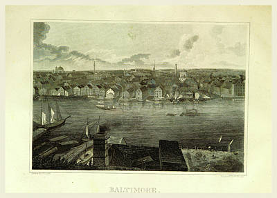 Baltimore Drawing - Baltimore, 19th Century Engraving by Litz Collection