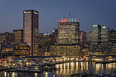 Chesapeake Bay Photograph - Baltimore At Dusk by Rick Berk
