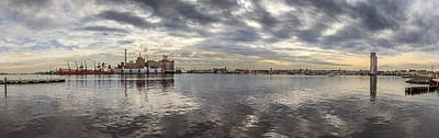 Fells Point Photograph - Baltimore Bay Panoramic by Will Castro
