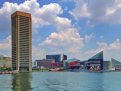 Photograph - Baltimore Harbor by Chris Montcalmo