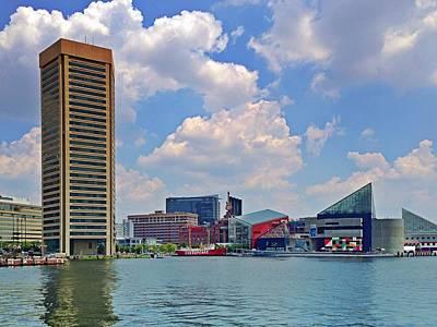 Photograph - Baltimore Harbor by Chris Montcalmo