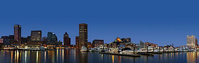 Photograph - Baltimore Harbor Skyline Twilight Panorama  by Susan Candelario