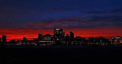 Locust Sunset Photograph - Baltimore Harbor Sunset by Doug Edmunds