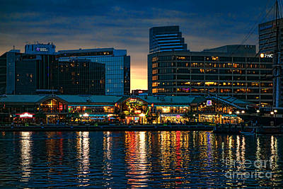 Marketplace Photograph - Baltimore Harborplace Light Street Pavilion by Olivier Le Queinec