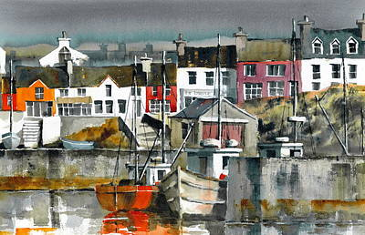 Painting - Baltimore Harbour Cork by Val Byrne