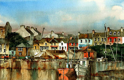 Painting - Baltimore Harbour  West Cork by Val Byrne