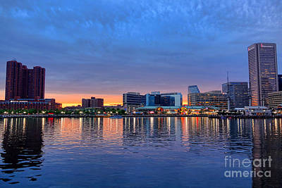 Baltimore Inner Harbor Photograph - Baltimore Inner Harbor At Dusk by Olivier Le Queinec