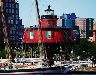 Baltimore Inner Harbor Lighthouse 2 Print by Marcus Dagan