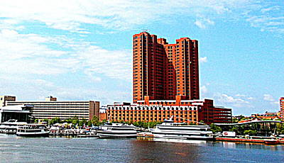 Photograph - Baltimore Inner Harbor by Pamela Hyde Wilson