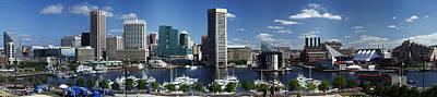 Photograph - Baltimore Inner Harbor Panorama by Bill Swartwout Photography