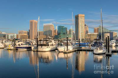 Baltimore Inner Harbor Skyline I Art Print