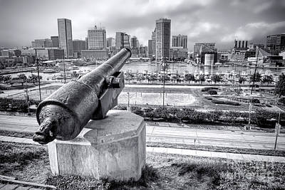 Art Print featuring the photograph Baltimore Inner Harbor Skyline by Olivier Le Queinec