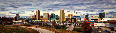 Curated Travel Chargers - Baltimore Inner Harbor Skyline Panorama by Bill Swartwout