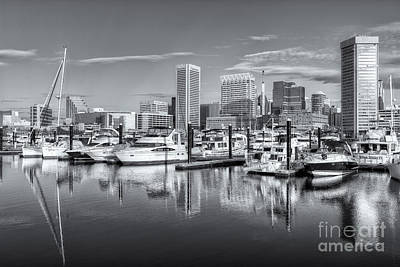 Photograph - Baltimore Inner Harbor Skyline V by Clarence Holmes