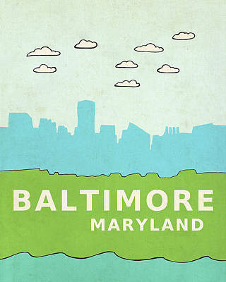 Baltimore Art Print by Lisa Barbero