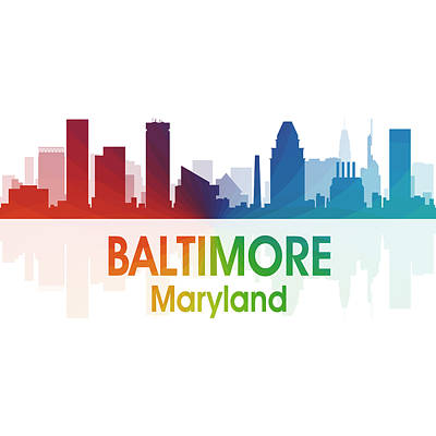 Baltimore Md 1 Squared Art Print