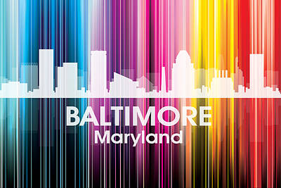 Digital Art - Baltimore Md 2 by Angelina Vick