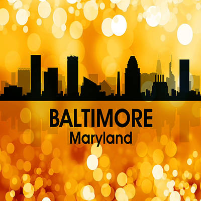 Baltimore Md 3 Squared Art Print