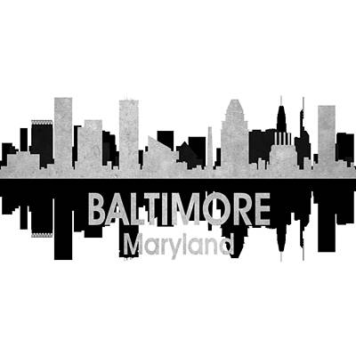 Baltimore Md 4 Squared Art Print