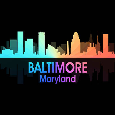Baltimore Md 5 Squared Art Print