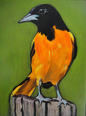 Painting - Baltimore Oriole by Edith Hunsberger