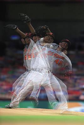 Photograph - Baltimore Orioles V Texas Rangers by Ronald Martinez