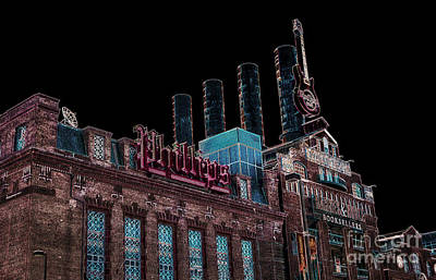 Photograph - Baltimore Power Plant Impression by Phil Cardamone