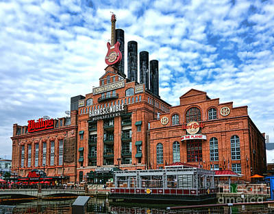 Baltimore Inner Harbor Photograph - Baltimore Power Plant by Olivier Le Queinec