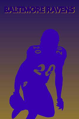 Baltimore Ravens Ed Reed Print by Joe Hamilton