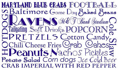 Digital Art - Baltimore Ravens Game Day Food 1 by Andee Design