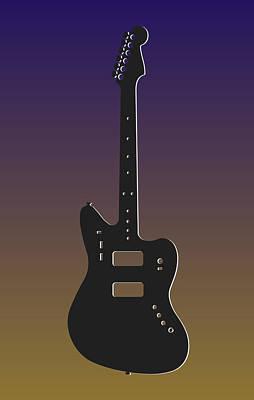 Baltimore Ravens Guitars Print by Joe Hamilton