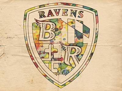 Baltimore Painting - Baltimore Ravens Logo Art by Florian Rodarte