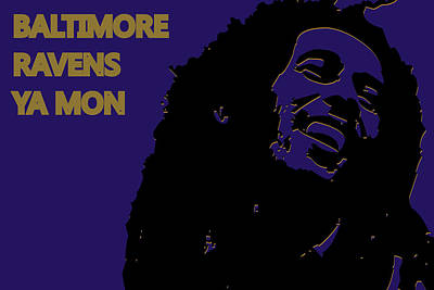 Baltimore Ravens Ya Mon Print by Joe Hamilton