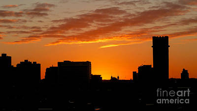 Photograph - Baltimore Silhouette Sunset by Mark Dodd