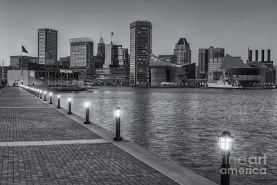 Baltimore Skyline At Twilight II Art Print