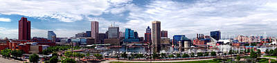 Baltimore Inner Harbor Photograph - Baltimore Skyline - Generic by Olivier Le Queinec