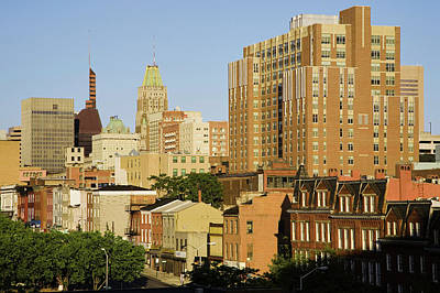 Baltimore Md Photograph - Baltimore Skyline, Maryland by Panoramic Images