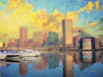 Painting - Baltimore by Taylan Apukovska