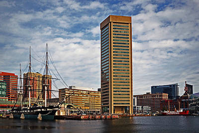Photograph - Baltimore World Trade Center And Constellation by Bill Swartwout
