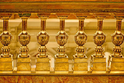 Photograph - Baluster In Brass by Nikolyn McDonald