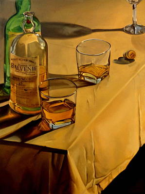 Scotch Painting - Balvenie Scotch by Rick Liebenow