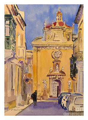 Balzan Parish Church Art Print