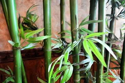 Art Print featuring the photograph Plant -  Bamboo  -  Luther Fine Art by Luther Fine Art
