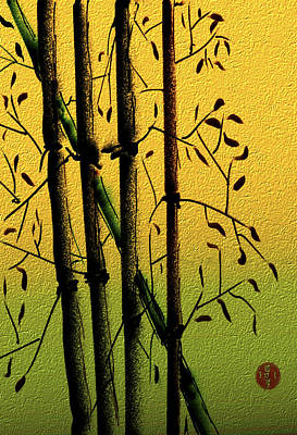 Digital Art - Bamboo 1 by Dale Stillman