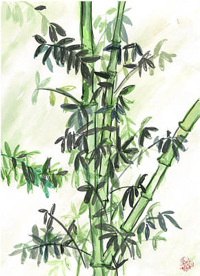 Bamboo Art Print by Amberlyn How