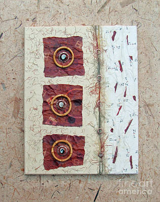 Mixed Media - Bamboo And Burgundy by Phyllis Howard