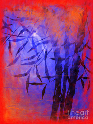 Bamboo Painting - Bamboo Blue by Lutz Baar