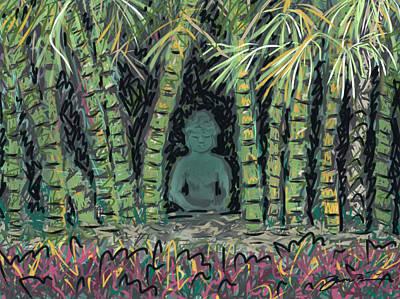 Painting - Bamboo Buddha by Jean Pacheco Ravinski